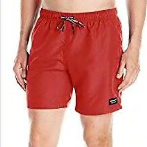 NWOT Men's Red BJÖRN Borg Solid Swim Trunk